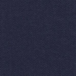Fischgrät Wollmix - Dark Denim
