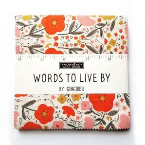 "Charm Pack ""Words to live by"" von Moda"