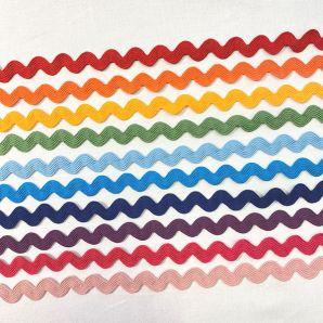20m Zickzack Bänder Set - Rainbow