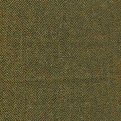 Englische Wolle Fischgrät - senfgelb/petrol