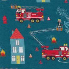 French Terry Feuerwehr Tatütata - Petrol