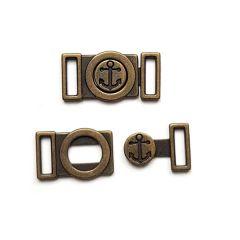 Metallverschluss 2-teilig Anker 1 cm - Bronze