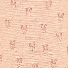 Bio Musselin Sweet Rabbit - Pfirsich