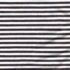 Jersey Spring Stripes - Schwarz