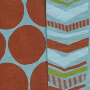 Dots and Pattern - Terracotta