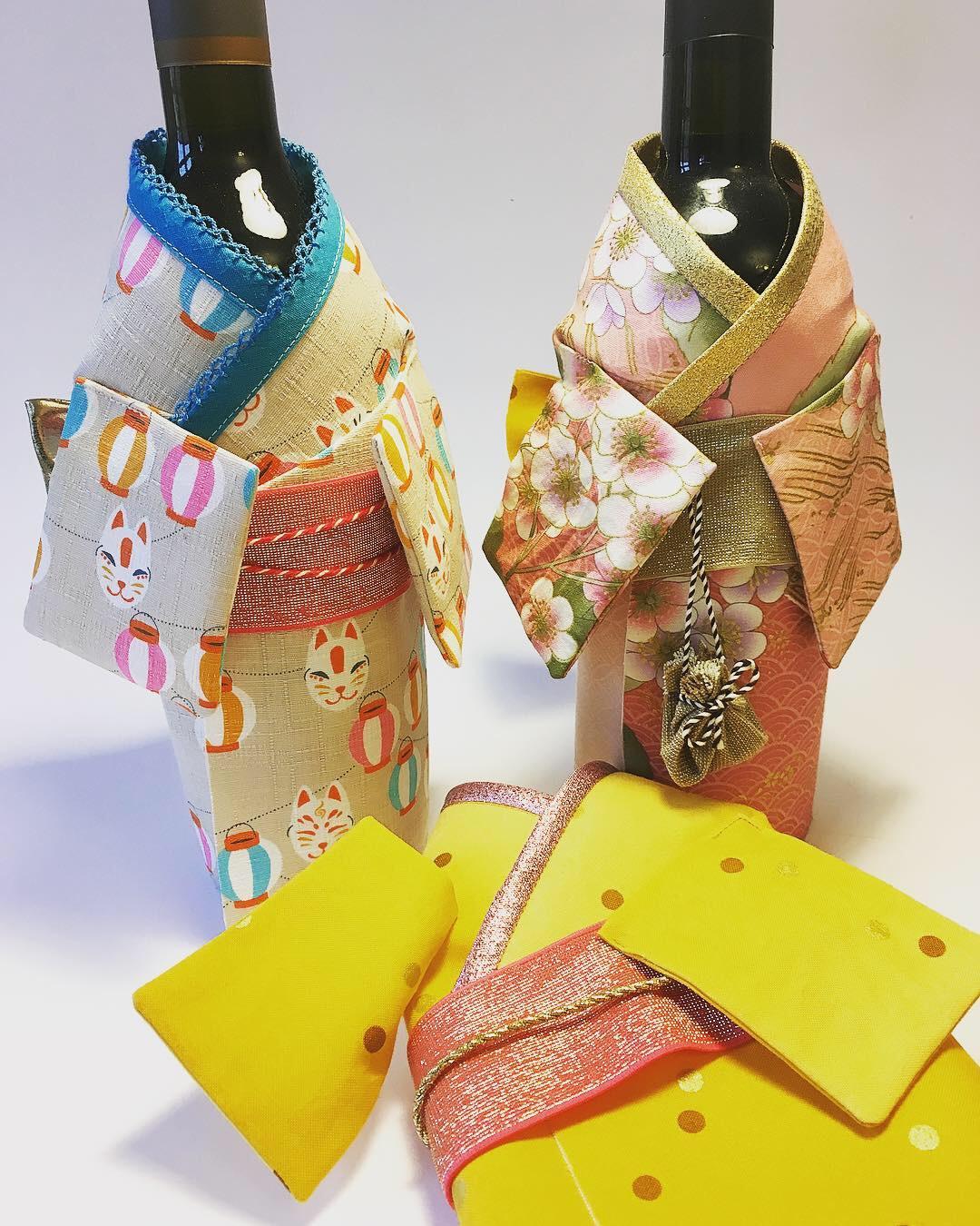 witzig und schnell genäht: der Flaschen Kimono