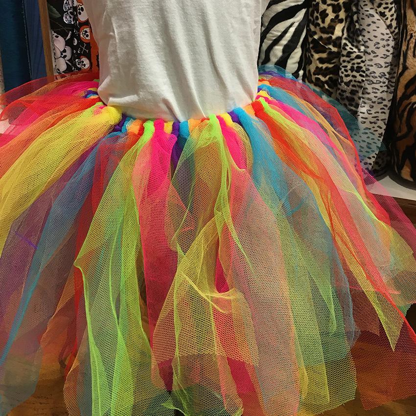 Ein Regenbogen Tüllrock ohne Nähen!