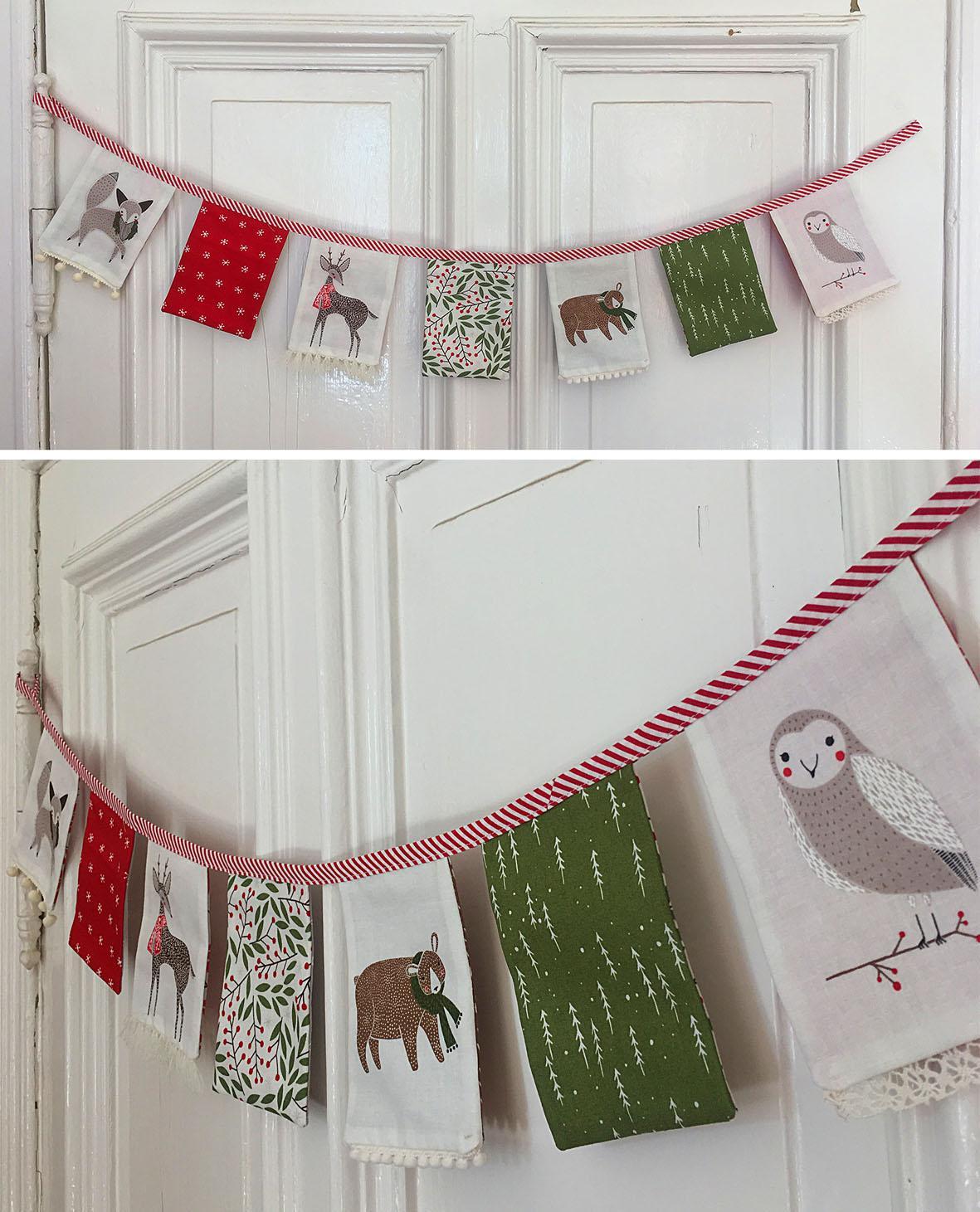 Weihnachtliche Tür-Girlande / Wimpelkette