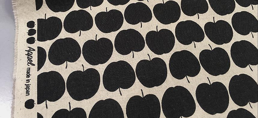 Stoff des Monats Oktober Leinen Appel anthrazit